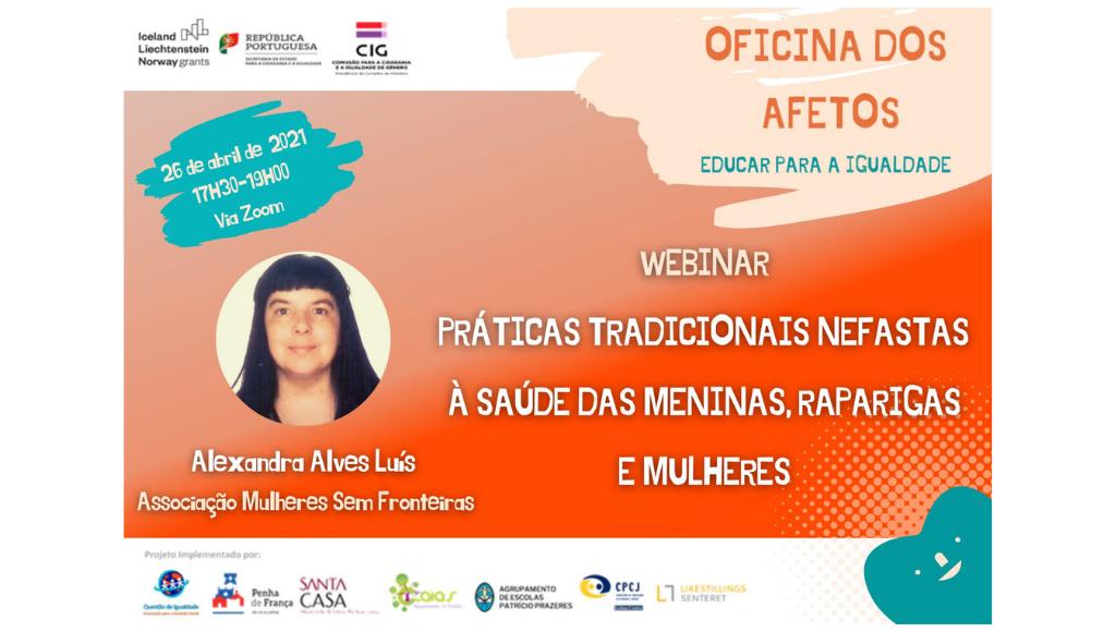Webinar Práticas Tradicionais Nefastas à Saúde de Meninas, Raparigas e Mulheres