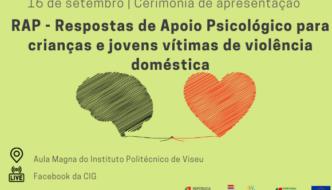 Ilustração balão de fala negro ligado por um fio a um coração vermelho. Logótipos de República portuguesa, CIG, POISE, Portugal 2020 e União Europeia.