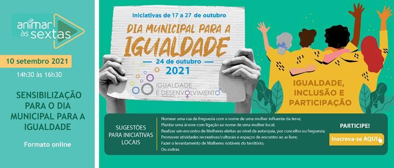 Ilustração sobre o Dia Municipal da Igualdade