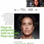 Slide de sessão zoom com imagem campanha Violência Sexual nas Relações de Intimidade, indicação da data de 27 de setembro de 2021|10horas e imagem da Secretária de Estado para a Cidadania e Igualdade,Rosa Monteiro, no canto superior direito.