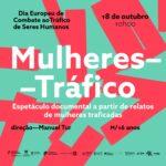 Cartaz de divulgação da sessão que assinala o Dia Europeu de Combate ao Tráfico de Seres Humanos. 18 de outubro | 10h00